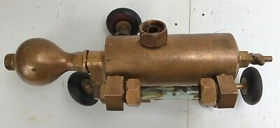 Brass Antique Detroit Lubricator Old Steam Hit Miss Stationary Engine Oiler