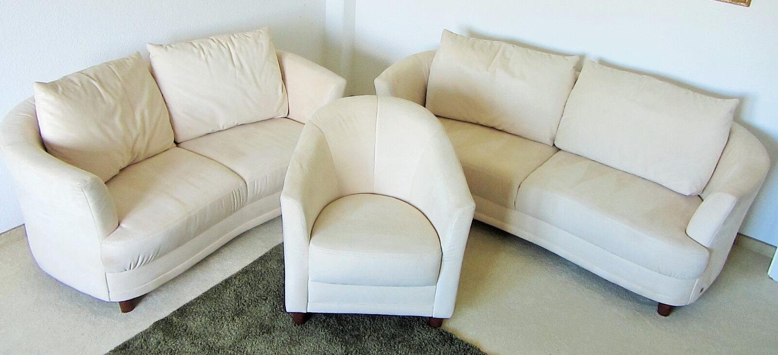 Musterring Leder Sessel Blau Einsitzer Echtleder Relax