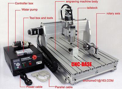 Four 4 Axis 3040 1500w Cnc Router Cnc Engraving Milling Machine Engraver Mach3