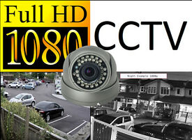 Full HD 1080p CCTV Security Camera System Installation. Includes Fitting and Mobile Phone View.