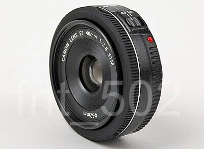 Canon EF 40mm f/2.8 STM Pancake Lens Black - Rrefurbished