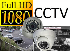 Full HD 1080p CCTV Security Camera System Installation. Includes Fitting and Mobile Phone Viewing.