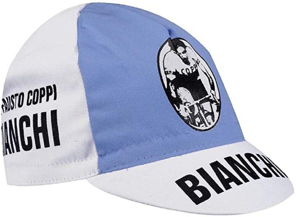 Bianchi Vintage Cycling Cap White Retro Look Standard Cotton Bicycle Cap