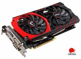 NVIDIA 970 4GB MSI GRAPHICS CARD + 2 sticks of 4GB DDR3 RAM