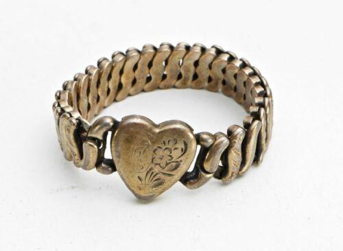 Vintage Expansion Bracelet with Heart - Precious Metal LaMode