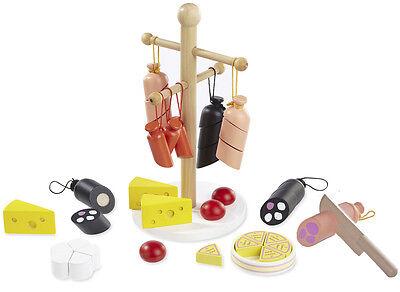 """Zubehör für Kaufladen """"Wurst & Käse"""" aus Holz von howa 4858"""