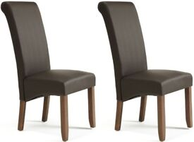 2x brand new con, leather chairs
