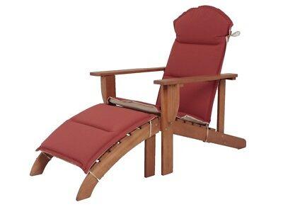 Holz Adirondack Chair + Auflage Garten Sonnenliege Relax Liege Möbel Liegesessel ()