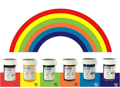 Paste Cupcake Decorating Rainbow Cake Colours Set Kit (Gel Icing Color)