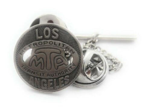 LOS ANGELAS 16MM (SMALL) SUBWAY TOKEN TIE TACK / LAPEL PIN