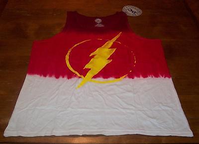 THE FLASH Dc Comics TIE-DYE SLEEVELESS TANKTOP T-Shirt LARGE NEW w/ TAG (Cheap Tie Dye Shirts)
