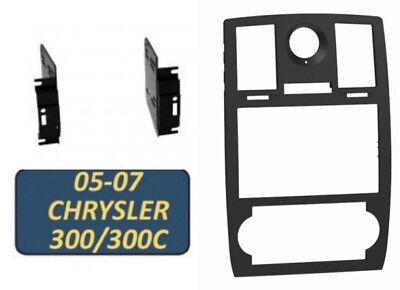 05 06 07 CHRYSLER 300 & 300C Car Radio Stereo Double Din Installation Kit Dash