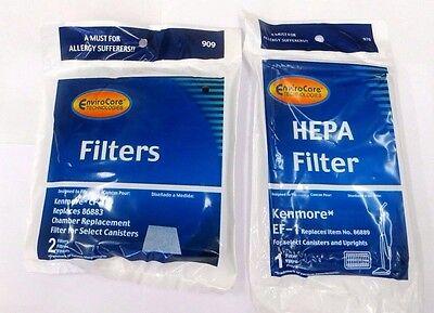 Vacuum Filter set for Kenmore EF-1 & CF-1 20-86889, 20-86883