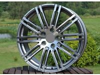 New 22 inch Rims for Porsche Cayenne Panamera 5x130 10J ET50 turbo style wheels