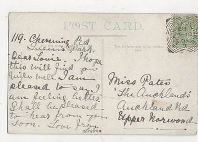 Miss Louie Pates The Aucklands Auckland Road Upper Norwood London 1905 482a