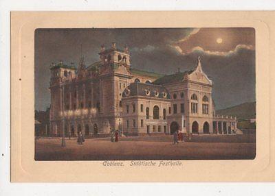 Coblenz Staedtische Festhalle Germany Vintage  Postcard 474a