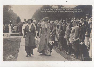 Prinzessin August Wilhelm & Frau Von Hindenburg RP Postcard Germany 042b