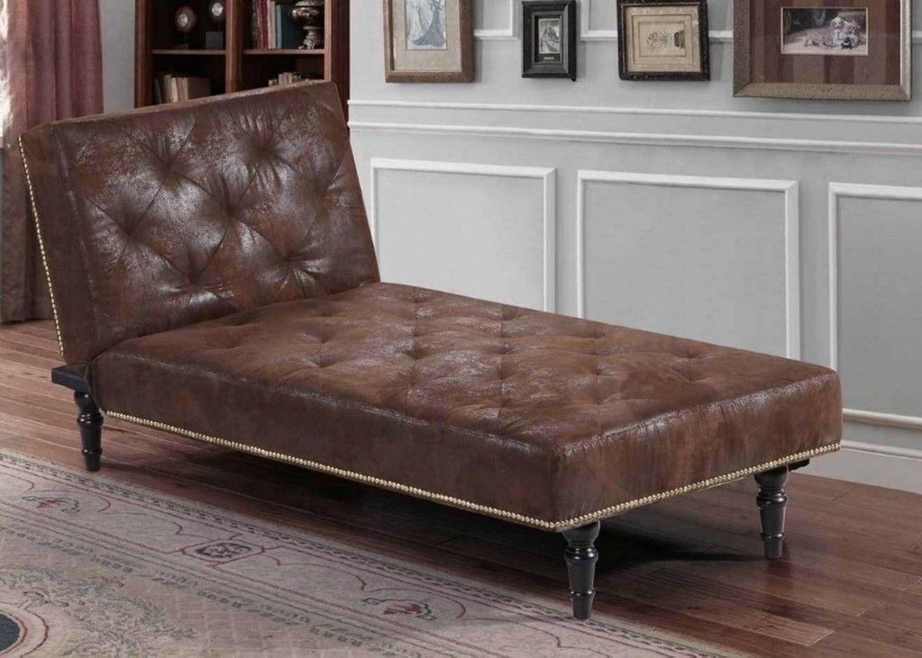 Vintage Chaise Longue Antique Retro Chair Victorian Style Sofa Bed Window Seat