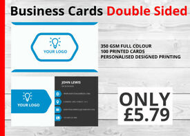 100 Printed Business card- Only £5.79