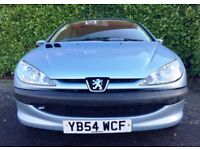 46500 MILES 2005 PEUGEOT 206 1.1 S 60 BHP GREAT CONDITION 6 MONTHS WARRANTY 12 MONTHS AA COVER