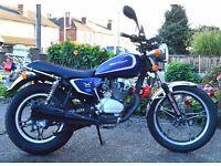 Hartford HD 125 S Motorcycle, 12 Months MOT, 2800 Miles