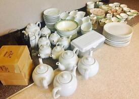 Joblot Crockery and vintage tea set items.