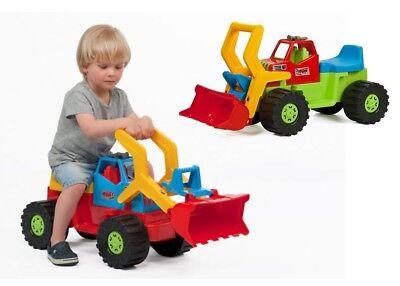 Kinderbagger Sitzbagger Spielzeug Sandkasten Bagger für Kinder Kinderfahrzeug