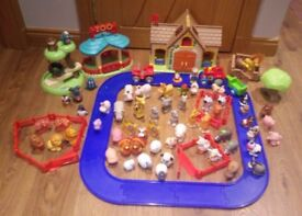 Happyland set 3 zoo, farm, loads of animals collect Stonehaven