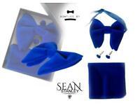 Royal Blue Oversized Velvet Bow Tie