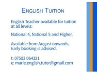 English Tutor Available in South Glasgow