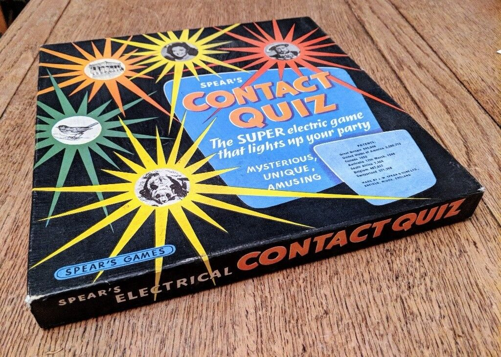Spear's Contact Quiz, a highly collectible old