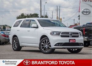 2017 Dodge Durango GT, White, Carproof Clean, Sunroof, BU Camera