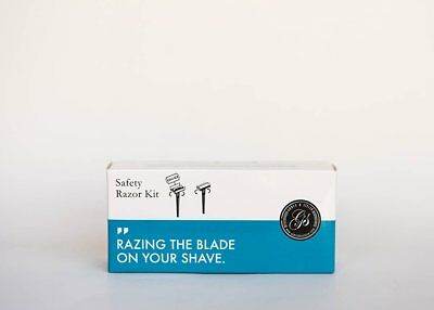 Double Edge Safety Razor Kit + 5 Swedish Platinum Super Blades by Grace & Stella, used for sale  Shipping to India