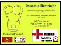 PG Home Electrics a NICEIC Registered Domestic Electrician