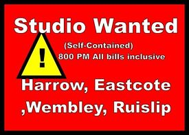 Studio wanted in west London areas