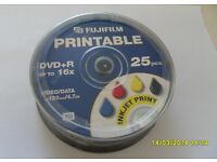 Brand new spindle of 25x FujiFilm Printable DVD+R Disks 4.7GB (Bath)