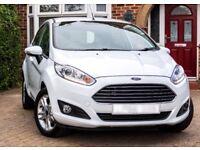 2017 White 1.0 Litre Ford Fiesta Ecoboost Zetec 5Dr - Under 10k Mileage - Satnav - Zero Tax Rated