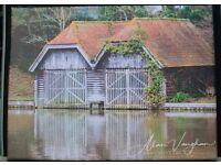 Unique The Boat House photo canvas picture 30cm x 40cm