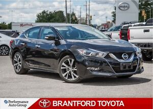 2017 Nissan Maxima SV, Black, Leather, Navigation, Carproof Clea