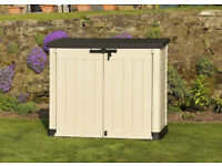 New Keter Max Garden Outdoor Plastic Shed - Delivered fully built to your door! - Damaged Stock