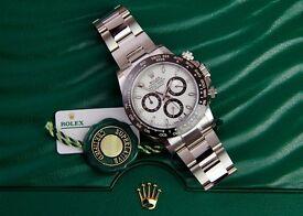 Rolex Daytona Ceramic 116500 LN. White dial. 2016 unworn. London
