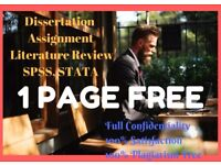 Dissertation/ Essay/ Assignment/ Proposal/ PhD Thesis/ SPSS/ STATA/ Matlab Statistical Analysis help