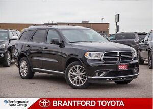 2016 Dodge Durango Limited, Black on Black Leather, Sunroof