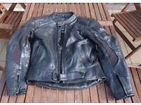 Dannisport motorcycle leather jacket