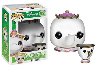 FUNKO POP! DISNEY: MRS. POTTS AND CHIP 92 3898 Vinyl Doll Figure IN STOCK