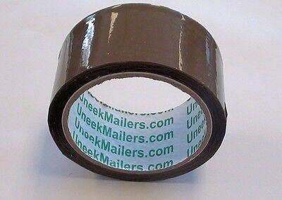 2 Rolls Carton Sealing Brown Packingshippingbox Tape- 1.6 Mil- 2 X 55 Yards