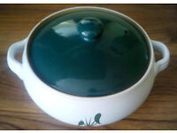 Denby Green Wheat casserole and lid