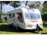2014 Bailey Unicorn Cadiz 4 Berth Touring Caravan.