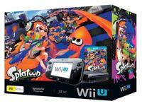 Nintendo Wii U Premium Pack console with Splatoon game