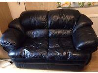 FREE Black leather 2 seater sofa